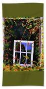 Backyard Window Beach Towel