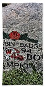 Badgers Rose Bowl Win 1994 Beach Towel