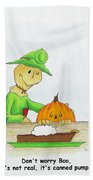 Baggs And Boo Canned Pumpkin Beach Towel