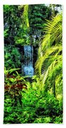 Bahamas - Tropical Waterfall Beach Towel