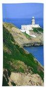 Baily Lighthouse, Howth, Co Dublin Beach Towel