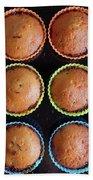 Baked Cupcakes Beach Towel