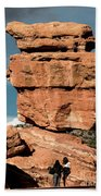 Balanced Rock At Garden Of The Gods Beach Towel
