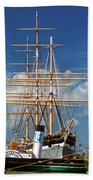 Balclutha Mast And Rigging Beach Towel