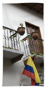 Balconies And Flags Beach Towel