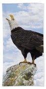 Bald Eagle Art - Speak Your Voice Beach Towel