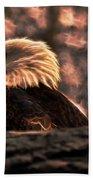Bald Eagle Electrified Beach Towel