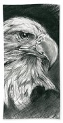 Bald Eagle Intensity Beach Towel by MM Anderson