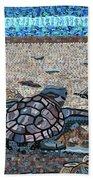 Bald Head Island, Loggerhead Sea Turtle Beach Towel