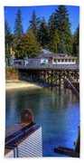Balfour Bc Docks And Ferry  Beach Towel