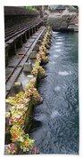Bali Temple Offerings Beach Sheet
