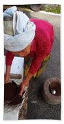 Balinese Lady Sifting Coffee Beach Sheet