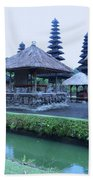 Balinese Temple By The Water Beach Towel