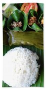 Balinese Traditional Lunch Beach Towel
