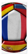 Ball With Flag Of France In The Center Beach Towel