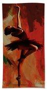 Ballerina Dance 0800 Beach Towel