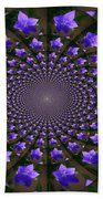 Balloon Flower Kaleidoscope Beach Towel