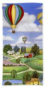 Ballooning In The Country One Beach Towel