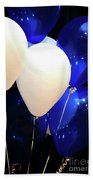 Balloons Of Blue And White Beach Towel