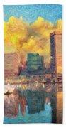 Baltimore Maryland Skyline Beach Towel