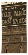 Baltimore Orioles Park At Camden Yards Sepia Beach Towel