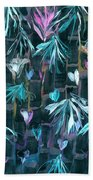 Bamboo And Butterflies Beach Towel