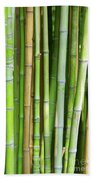 Bamboo Background Beach Towel