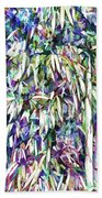 Bamboo Forest Background Beach Towel