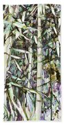 Bamboo Sprouts Forest Beach Towel