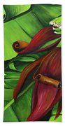 Banana Tree Flower Beach Towel