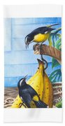Bananaquits And Bananas Beach Towel