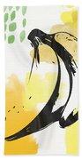 Bananas- Art By Linda Woods Beach Towel