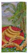 Bananas On A Plate Beach Towel