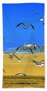 Bandon Gulls Beach Towel