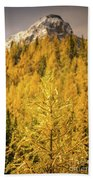 Banff Golden Larch Dream World Beach Towel