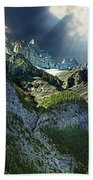 Mount Cory, Banff Beach Towel