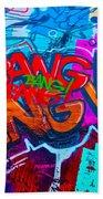 Bang Graffiti Nyc 2014 Beach Sheet