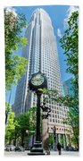 Bank Of America Corporate Center In Charlotte, Nc Beach Towel