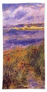 Banks Of The Seine At Champrosay Beach Towel