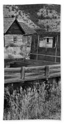 Bannack Extended Parking Black And White Beach Towel