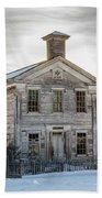 Bannack Schoolhouse And Masonic Temple Beach Towel