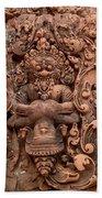Banteay Srei Bas Relief Carvings - Cambodia Beach Towel