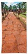 Banteay Srei Red Sandstone Road - Cambodia Beach Towel