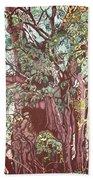 Baoba In Foliage Beach Sheet