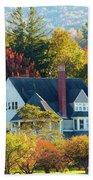 Bar Harbor Autumn House Beach Towel