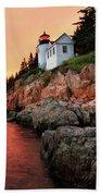 Bar Harbor Light House Beach Towel