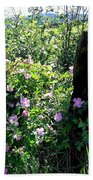 Barbed Wire And Roses Beach Towel