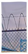 Barbed Wire Bridge Beach Towel