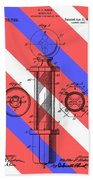Barber Pole Patent Beach Towel