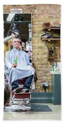 Barber Shop With A Beer Beach Towel